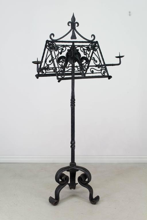 19th Century French Wrought Iron Lectern For Sale 1