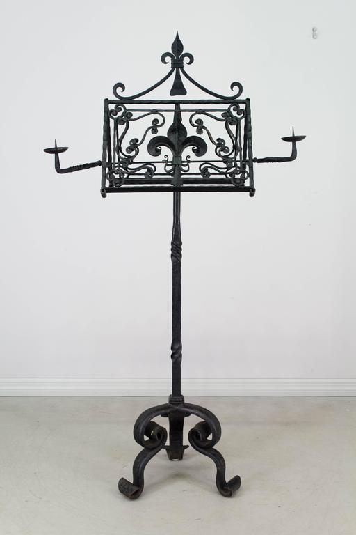 19th Century French Wrought Iron Lectern In Excellent Condition For Sale In Winter Park, FL