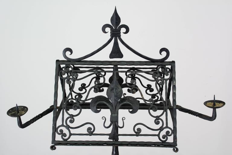 19th Century French Wrought Iron Lectern For Sale 3