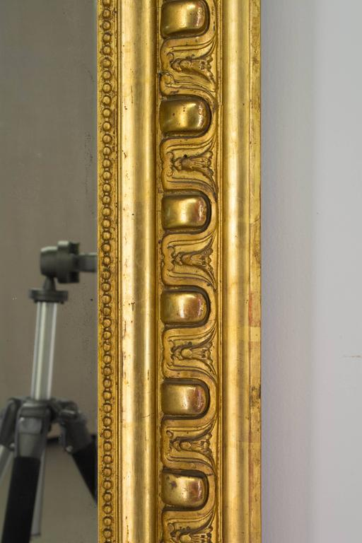 19th Century Louis-Philippe Gilded Mirror In Good Condition For Sale In Winter Park, FL