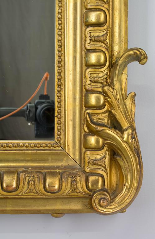 19th Century Louis-Philippe Gilded Mirror For Sale 3