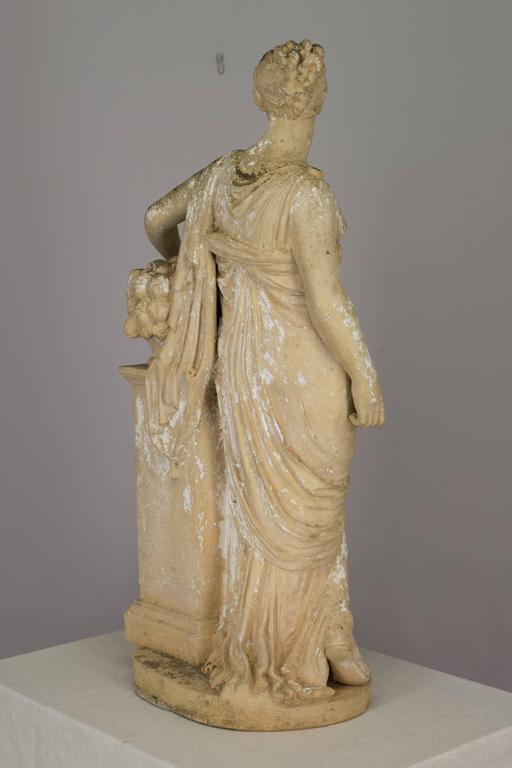 French Neoclassical Garden Statue At 1stdibs