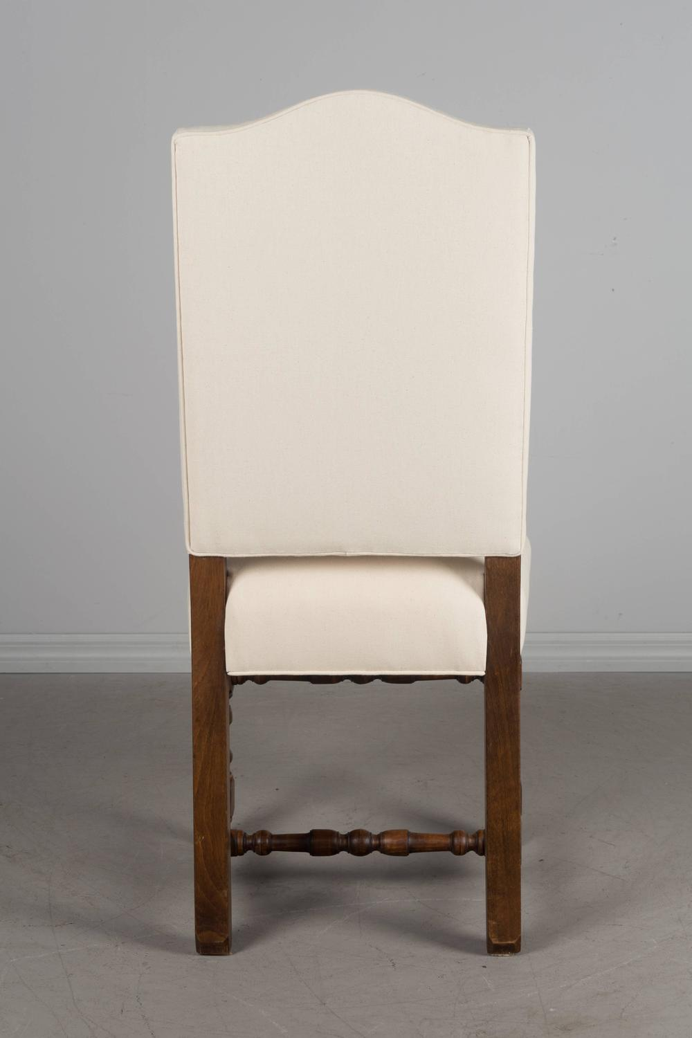 Set Of Eight French Louis XIII Style Dining Chairs For Sale At 1stdibs