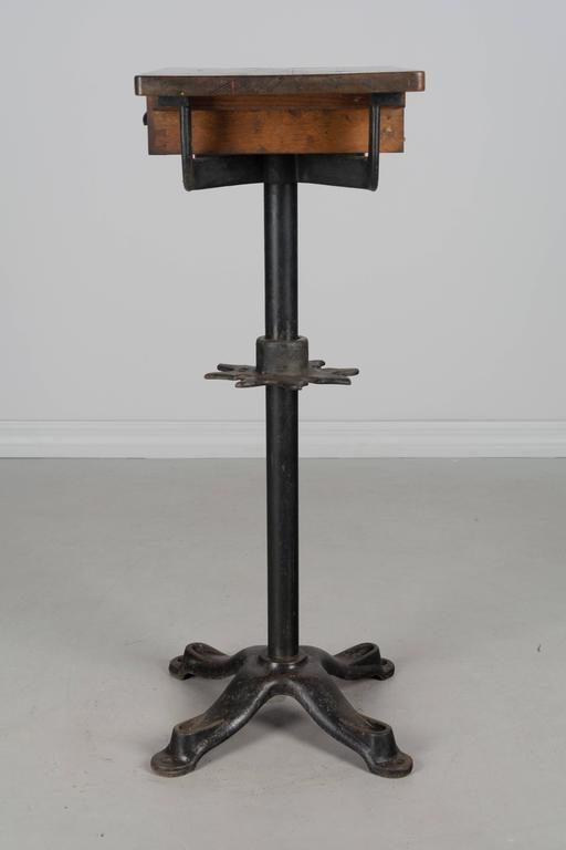 19th Century French Industrial Cast Iron Table For Sale 2