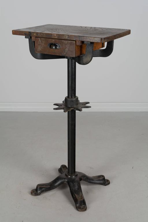 19th Century French Industrial Cast Iron Table For Sale 1