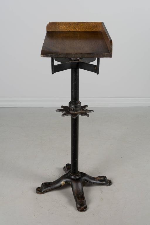 19th Century French Industrial Cast Iron Table For Sale 3