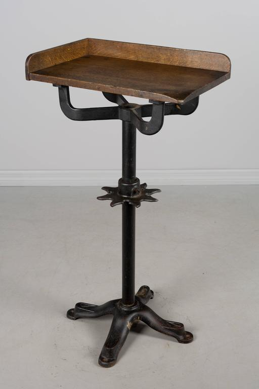 19th Century French Industrial Cast Iron Table In Excellent Condition For Sale In Winter Park, FL