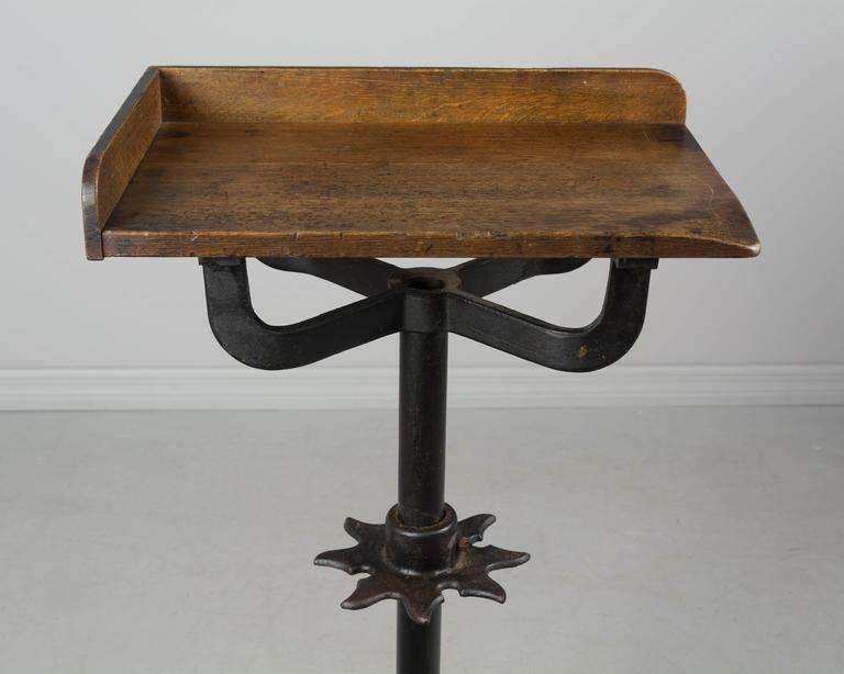 19th Century French Industrial Cast Iron Table For Sale 4