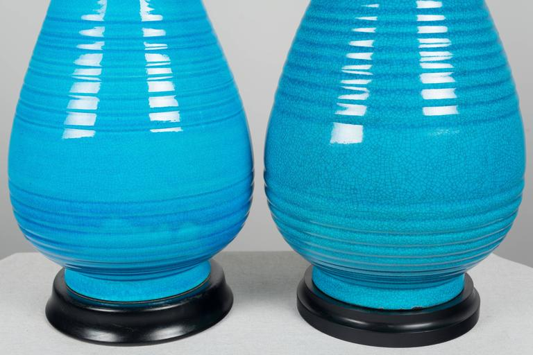 Pair of Large Frederick Cooper Ceramic Lamps For Sale 3