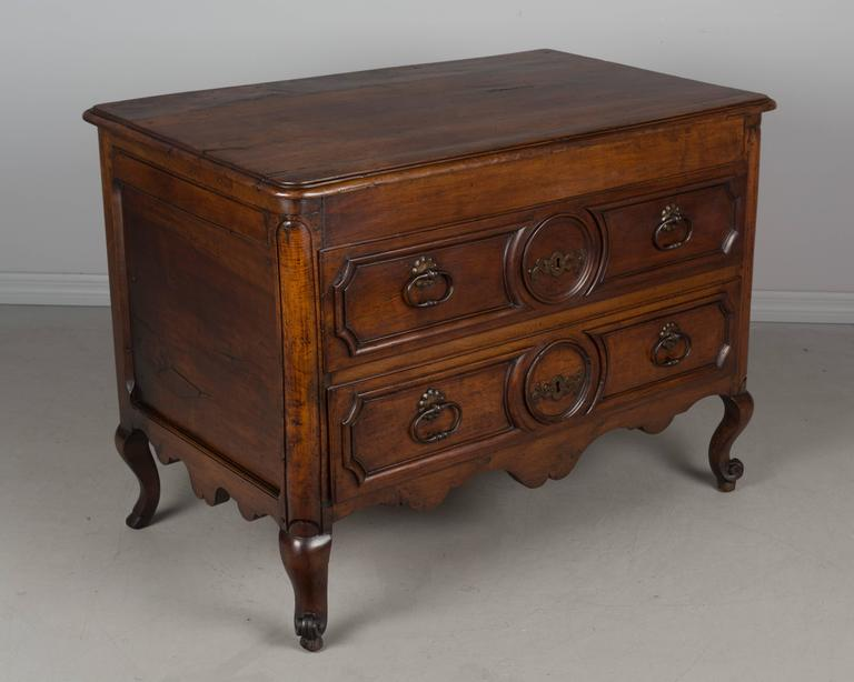 19th Century Louis XV Style Walnut Commode 4
