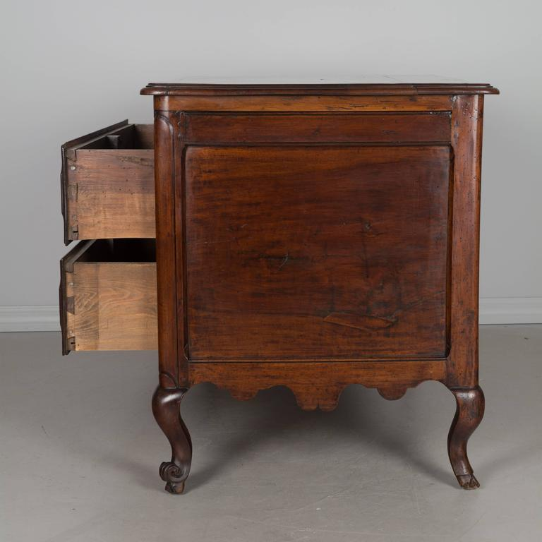 19th Century Louis XV Style Walnut Commode 8