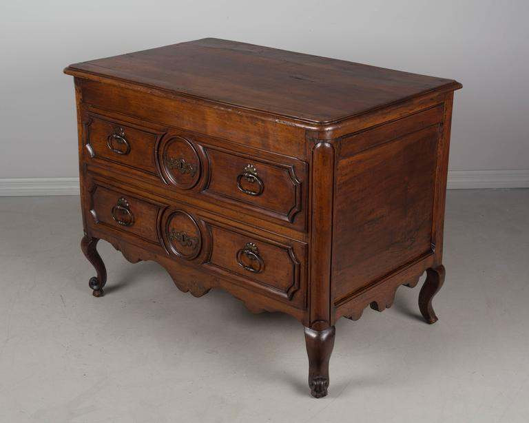 19th Century Louis XV Style Walnut Commode 5