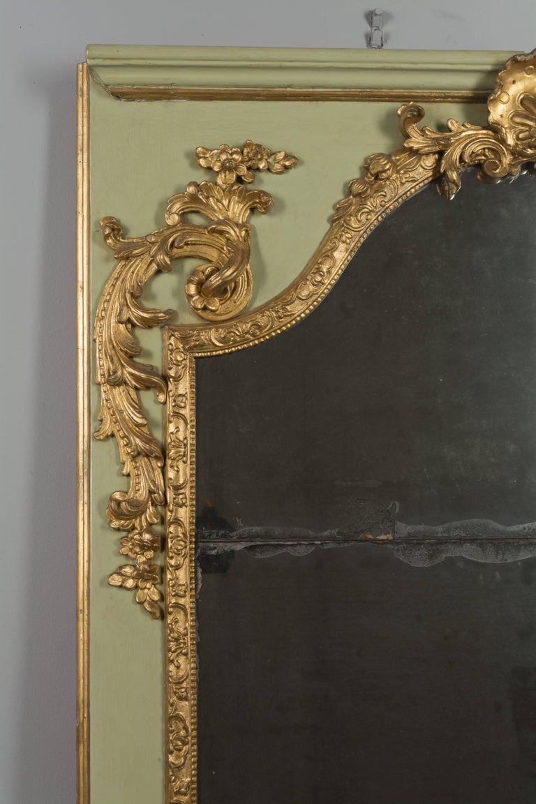 Louis XVI French Trumeau Mirror In Good Condition For Sale In Winter Park, FL