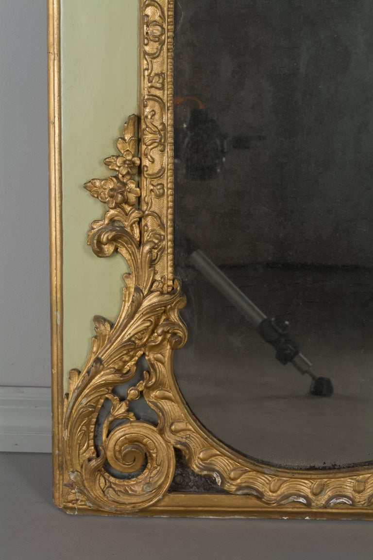 18th Century and Earlier Louis XVI French Trumeau Mirror For Sale
