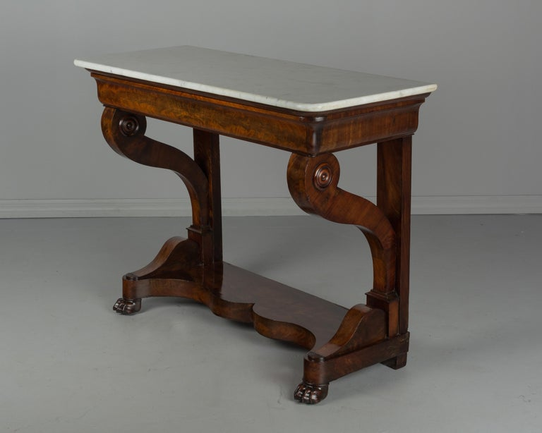 Louis Philippe 19th Century French Louis-Philippe Mahogany Console For Sale