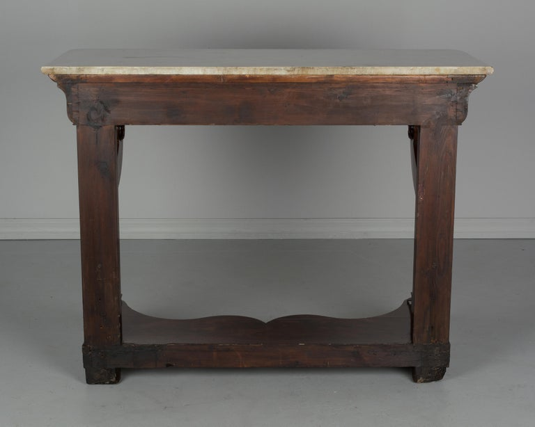 19th Century French Louis-Philippe Mahogany Console For Sale 4
