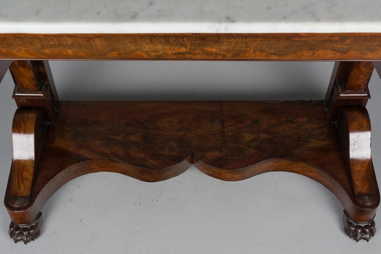 19th Century French Louis-Philippe Mahogany Console For Sale 1