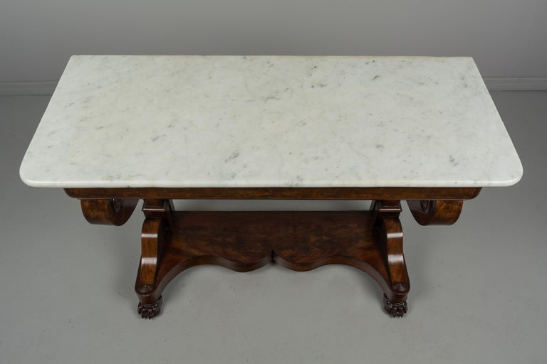 19th Century French Louis-Philippe Mahogany Console For Sale 2