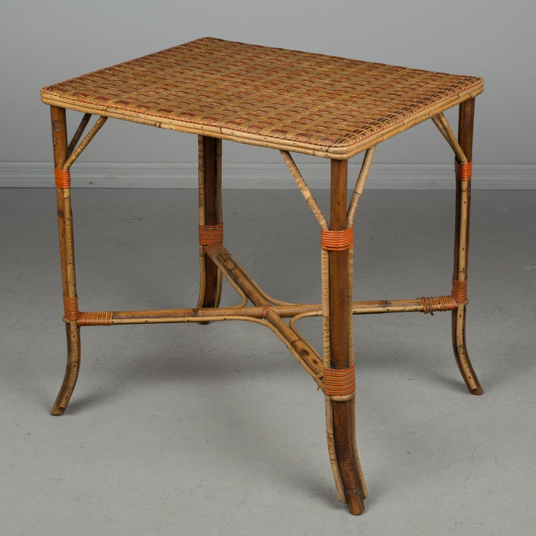 French Provincial 19th Century French Wicker Dining Set For Sale