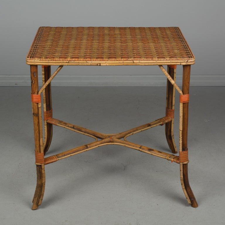 Woven 19th Century French Wicker Dining Set For Sale