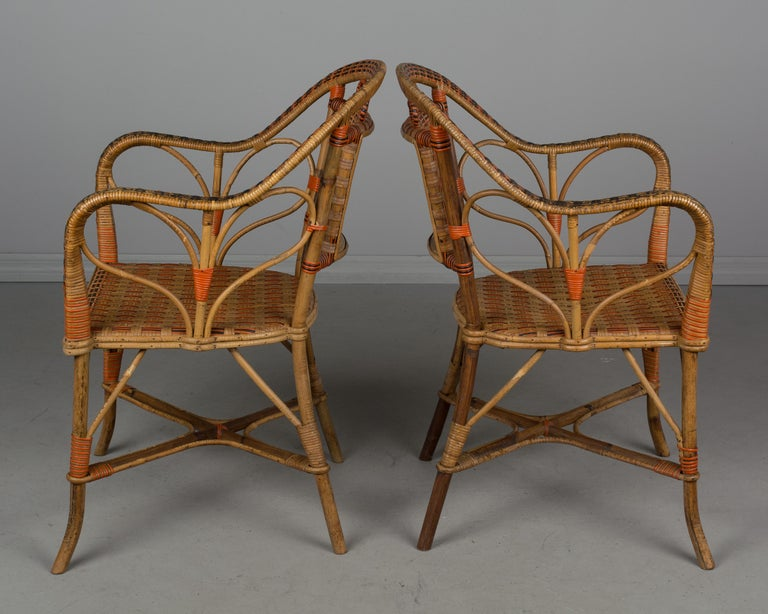 19th Century French Wicker Dining Set For Sale 1