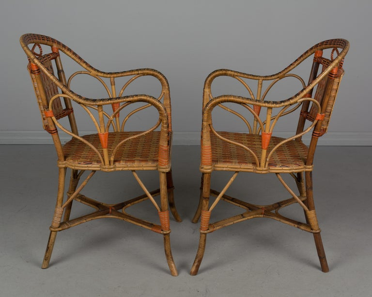 19th Century French Wicker Dining Set For Sale 2