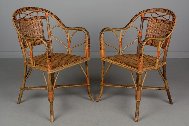 19th Century French Wicker Dining Set For Sale 3