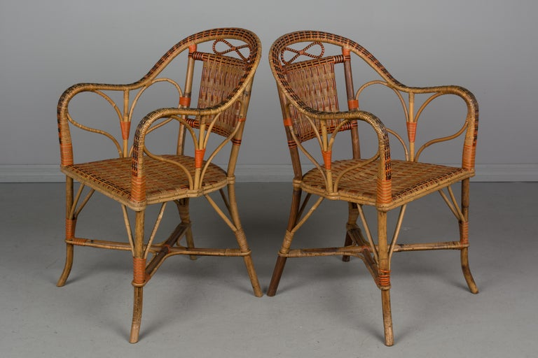 19th Century French Wicker Dining Set For Sale 4