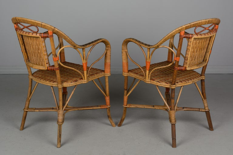 19th Century French Wicker Dining Set For Sale 5