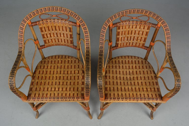 19th Century French Wicker Dining Set For Sale 6