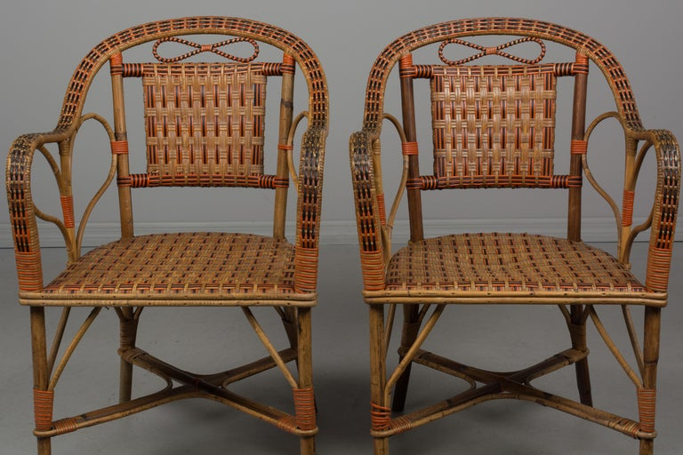 19th Century French Wicker Dining Set For Sale 7