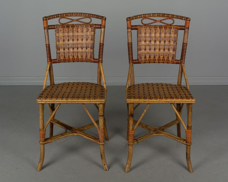 19th Century French Wicker Dining Set For Sale 8