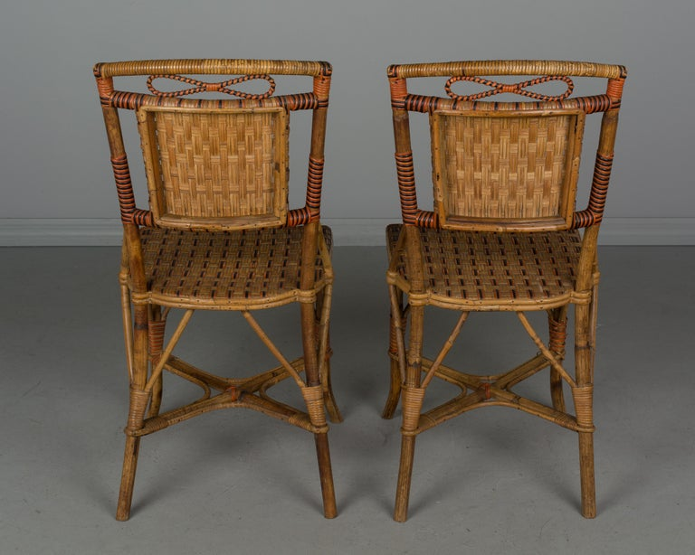 19th Century French Wicker Dining Set For Sale 9
