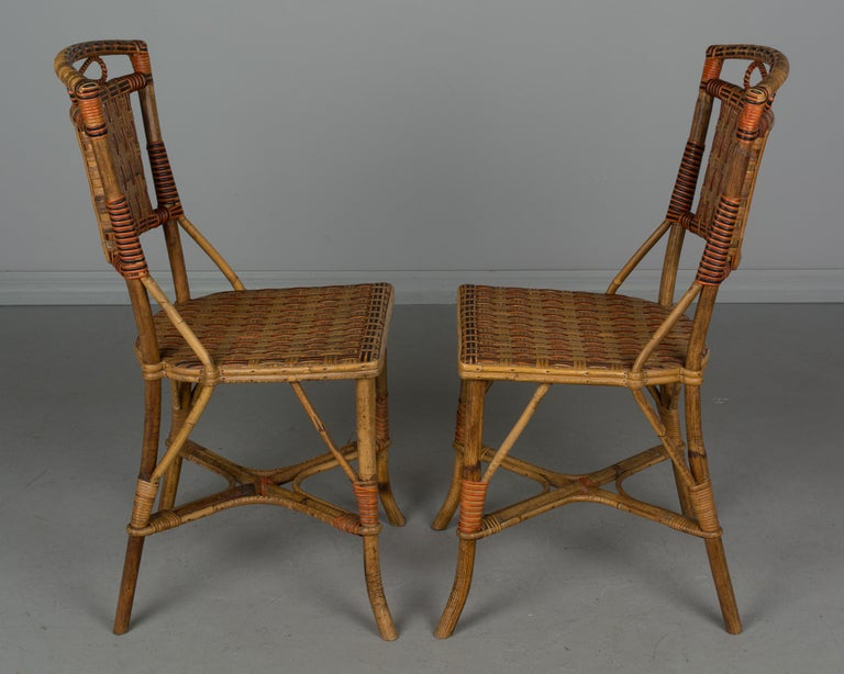 19th Century French Wicker Dining Set For Sale 12