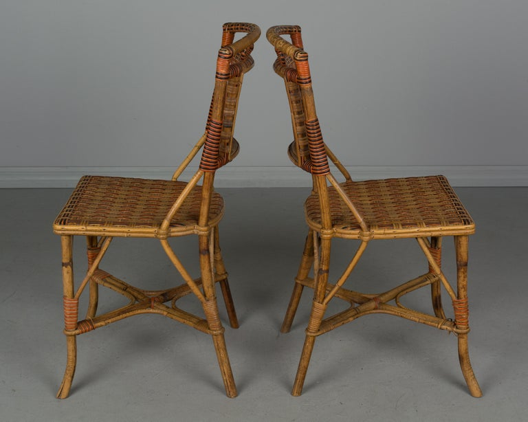 19th Century French Wicker Dining Set For Sale 13
