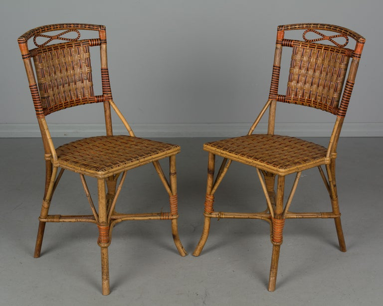 19th Century French Wicker Dining Set For Sale 10