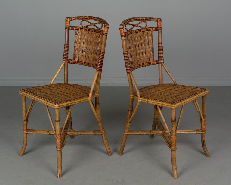 19th Century French Wicker Dining Set For Sale 11