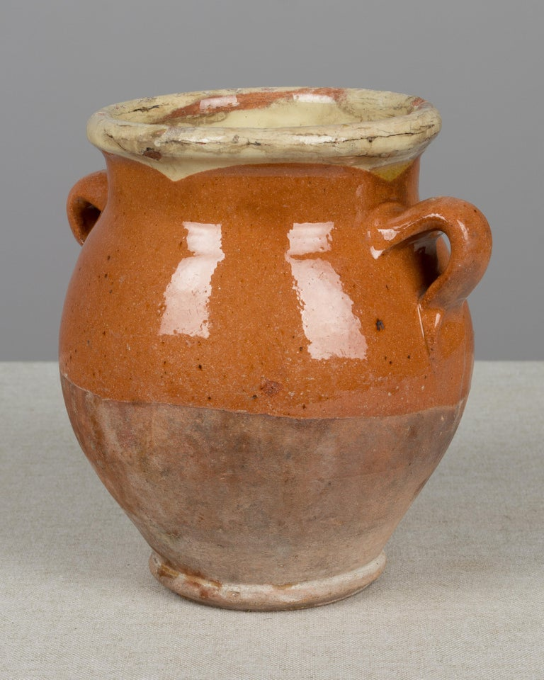 20th Century French Terracotta Confit Pot For Sale