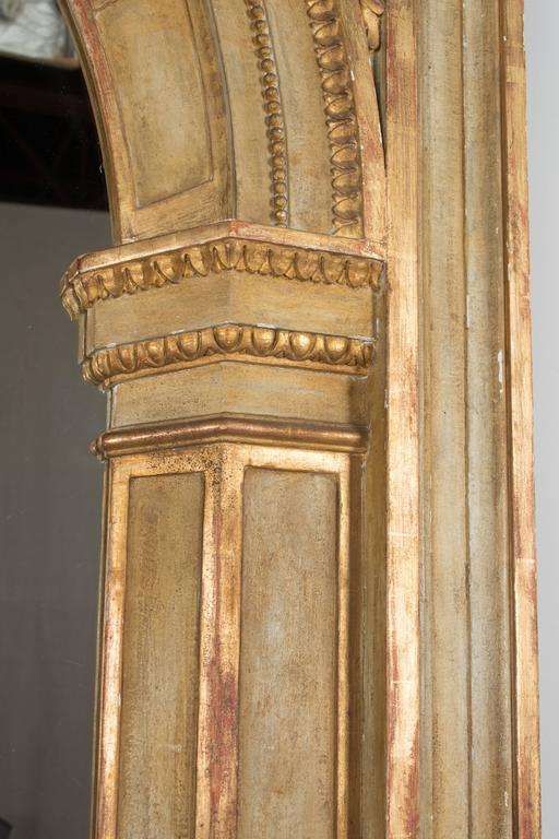 Large French Parcel Gilt Floor Mirror For Sale At 1stdibs