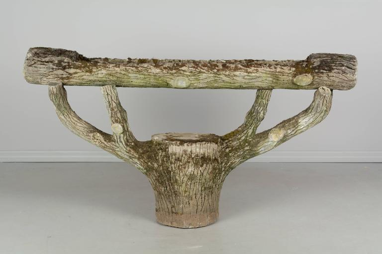 French Faux Bois Planter For Sale 1