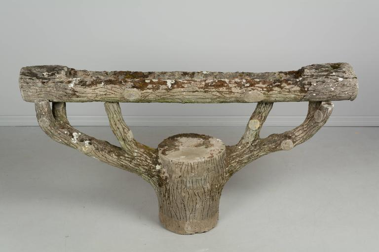 French Faux Bois Planter For Sale 3