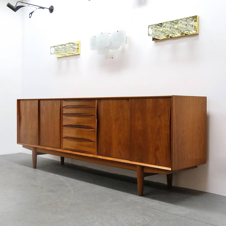 danish teak arne vodder style sideboard at 1stdibs. Black Bedroom Furniture Sets. Home Design Ideas