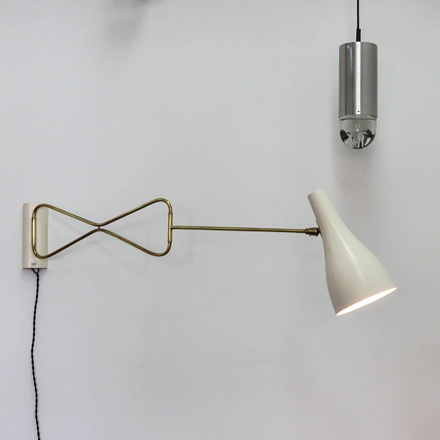 Austrian Swing Arm Wall Light at 1stdibs