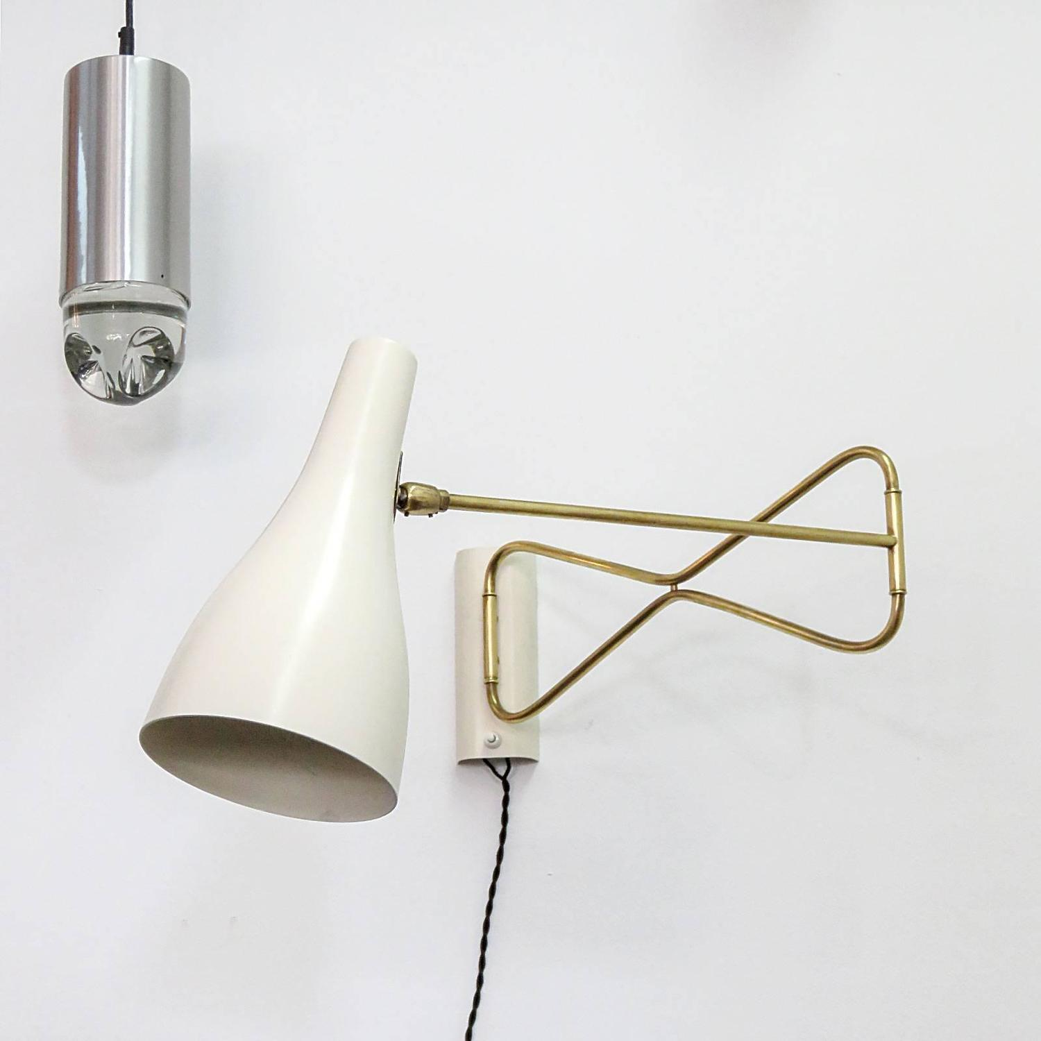 Wall Lights Scandinavian : Austrian Swing Arm Wall Light at 1stdibs
