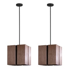 Cubic Chandeliers by Lightolier