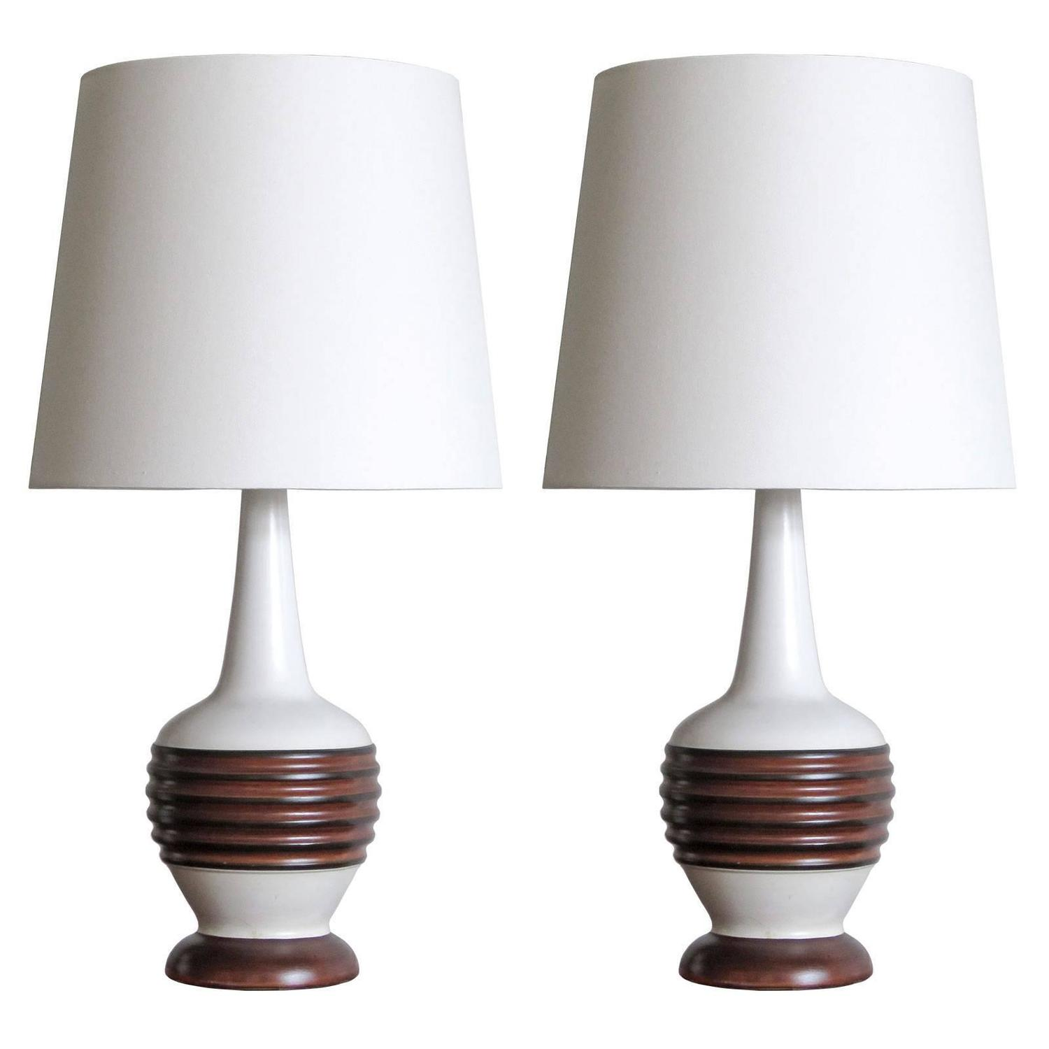 Pair of danish table lamps at 1stdibs geotapseo Images