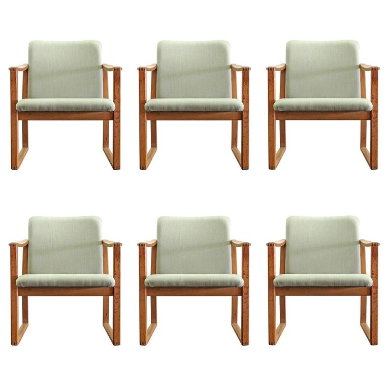 Six Børge Mogensen Dining Chairs