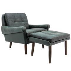 Svend Skipper Lounge Chair and Ottoman