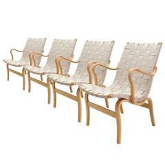 Set of Four Eva Armchairs by Bruno Mathsson