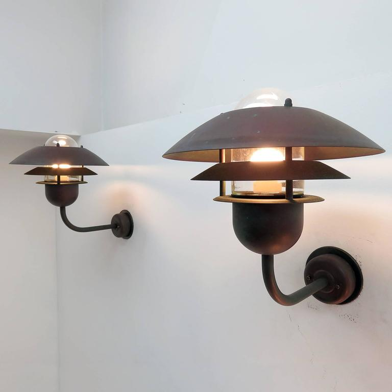 Pair of Scandinavian Outdoor Wall Lights by Horn 9